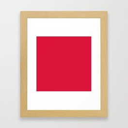 (Crimson) Framed Art Print