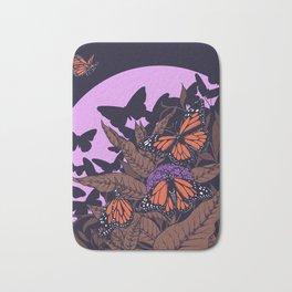 monarchs and milkweed Bath Mat