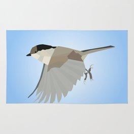 WILLOW TIT BIRD LOW POLY ART Rug