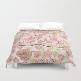 Flamingo Perch Pattern Duvet Cover