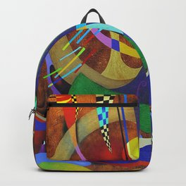 Painting abstract climbing in the mountains Backpack