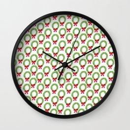 Wreath Pattern Wall Clock