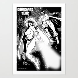 Guardians of the Blue - pin-up 01 Art Print