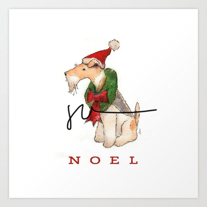 Wire Fox Terrier Noel Kunstdrucke