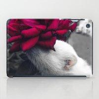 ferret iPad Cases featuring Rosy Ferret by Clara J Aira