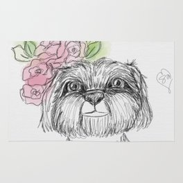 Girly Shih Tzu Rug