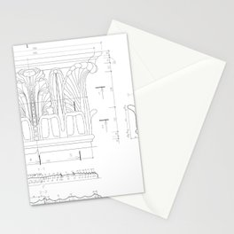 Corinthian capital Stationery Cards