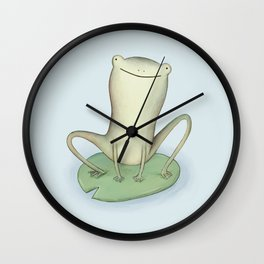 Happy Frog Wall Clock