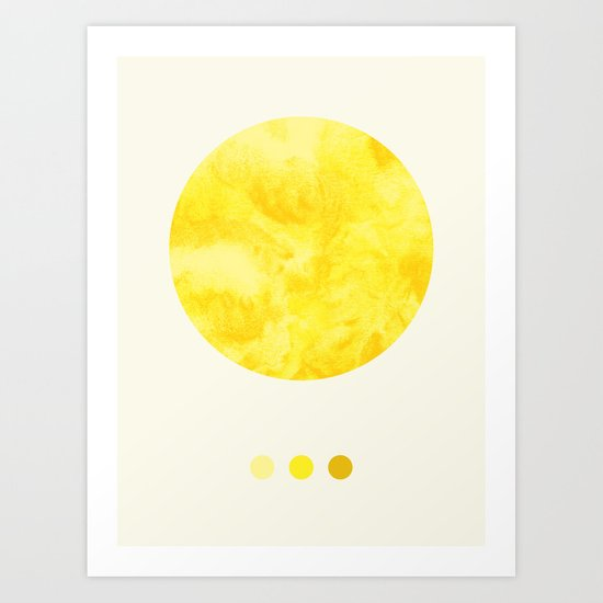 Colours of the Sun Art Print