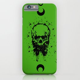 Butterfly Skull Green iPhone Case