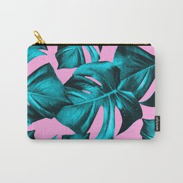 Monstera Leaves Summer Vibes Pattern #1 #tropical #decor #art #society6 Carry-All Pouch
