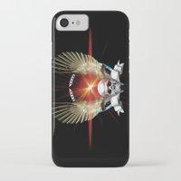 guns iPhone & iPod Cases featuring Skull & Guns by Messiahsc