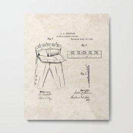 Elastic Garment Support Vintage Patent Hand Drawing Metal Print