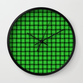Small Lime Green Weave Wall Clock
