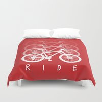 bikes Duvet Covers featuring Bikes by ClicheZero