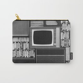 Everything Retro (Black and White) Carry-All Pouch