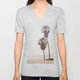 Vintage Summer Palm Trees Unisex V-Neck