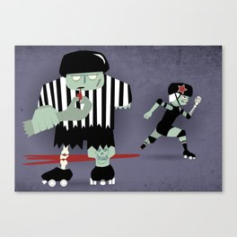Roller Zombies - Fresh Meat Canvas Print