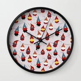 Gnome pattern 1c Wall Clock