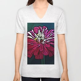 Red Zinnia Unisex V-Neck