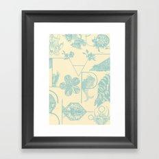 Letters in blue Framed Art Print