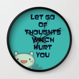 Cute and Inspirational Encouraging Quote Wall Clock