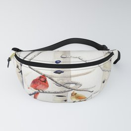 Birch Trees and Cardinal Fanny Pack
