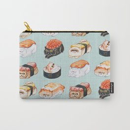 Sushi Persian Cat Watercolor Carry-All Pouch