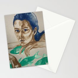Pisces Lady Stationery Cards