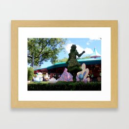MAGIC KINGDOM: Alice's Mad Tea Party (Topiary) Framed Art Print