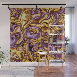 funky melted purple and gold Wall Mural