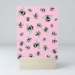 Bumble Bee (Pink) Mini Art Print