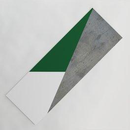 Concrete Festive Green White Yoga Mat
