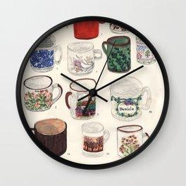 Cups Wall Clock