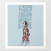 stiles Art Prints featuring Stiles Stilinski by MENELLAOS