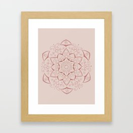 Jin Pink Mandala Framed Art Print