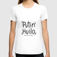 putin T-shirts featuring PUTIN HUILO by NOT VERY ART