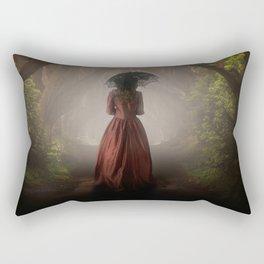Satin red dress Rectangular Pillow