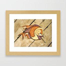 Somethin's Fishy Framed Art Print