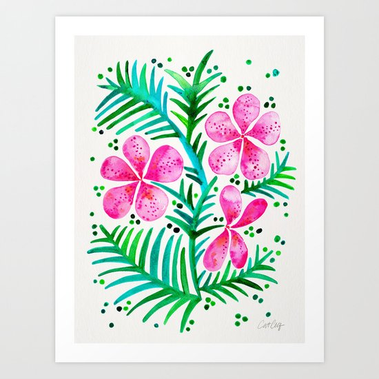 Orchid Bunch – Fuchsia & Green Palette Art Print