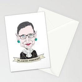Ruth Bader Ginsburg The Notorious RBG Flaming Feminist Stationery Cards