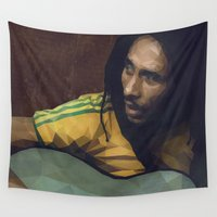 reggae Wall Tapestries featuring Roots Rock Reggae by Trimm Illustrations
