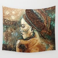 africa Wall Tapestries featuring Africa by Cristina Pagani Arte