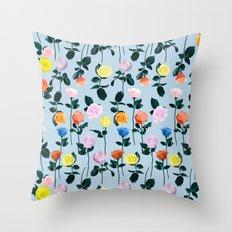 Roses garden Throw Pillow