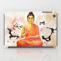 buddha iPad Cases featuring Buddha by O. Be