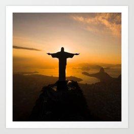 Christ The Redeemer Flipping Us Art Print