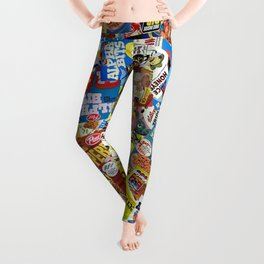 Cereal Boxes Collage Leggings