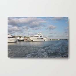 Beaufort, NC docks Metal Print