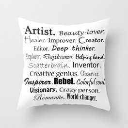Artist Description Throw Pillow