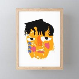 Abstract crying man Framed Mini Art Print